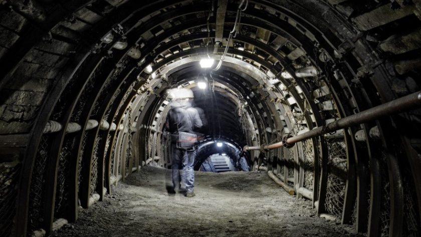 Guido, widok tunelu z górnikiem