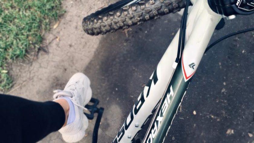 rower widok z góry