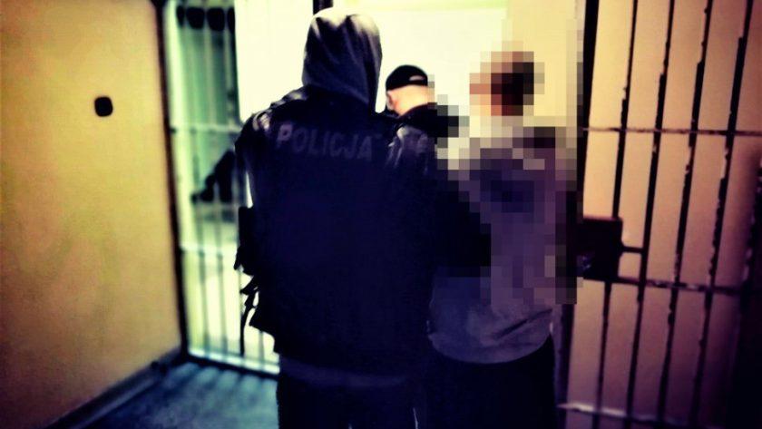 Policja prowadzi złodzieja